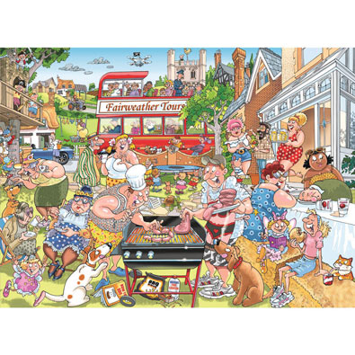 A Typical British BBQ 1000 Piece Wasgij Puzzle