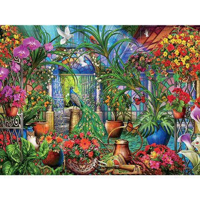 Tropical Greenhouse 1500 Piece Giant Jigsaw Puzzle