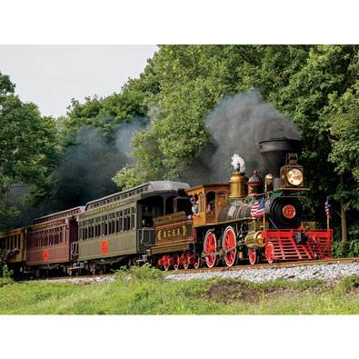 Forest Train Ride 750 Piece Jigsaw Puzzle