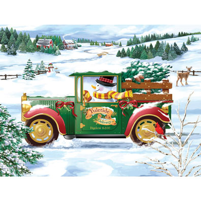 Snowman Delivery 300 Large Piece Jigsaw Puzzle