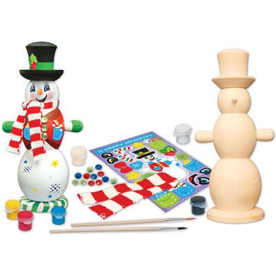 Wooden Snowman Painting Kit