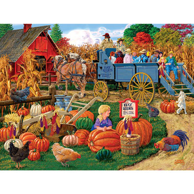 Come on Boy Hayride 500 Piece Jigsaw Puzzle