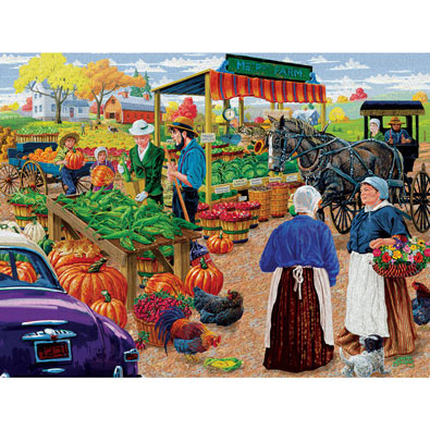 Mr. P's Farm Market 500 Piece Jigsaw Puzzle