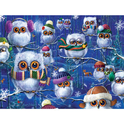 Night Owls with Hats 500 Piece Jigsaw Puzzle