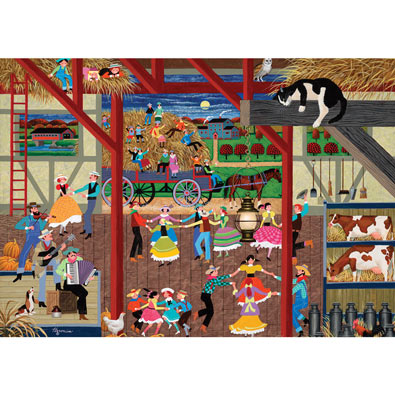 Barn Dance 300 Large Piece Nostalgia Jigsaw Puzzle