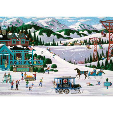 Pine Ridge Lodge 300 Large Piece Nostalgia Jigsaw Puzzle