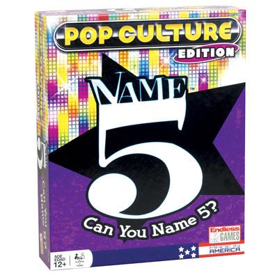 Name 5 Pop Culture Edition