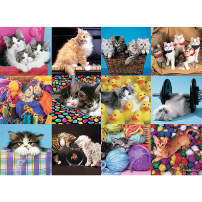 Kitten Collage 300 Large Piece Jigsaw Puzzle