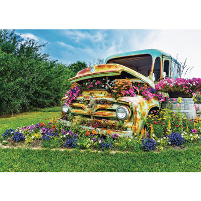 Flower Truck 500 Piece Jigsaw Puzzle