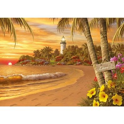Tropical Love 500 Piece Jigsaw Puzzle