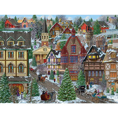 Winter Village Square 300 Large Piece Jigsaw Puzzle