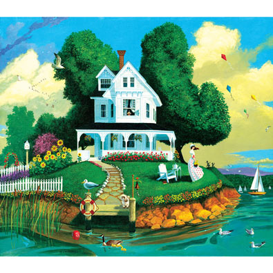 Watching for Rain 300 Large Piece Jigsaw Puzzle