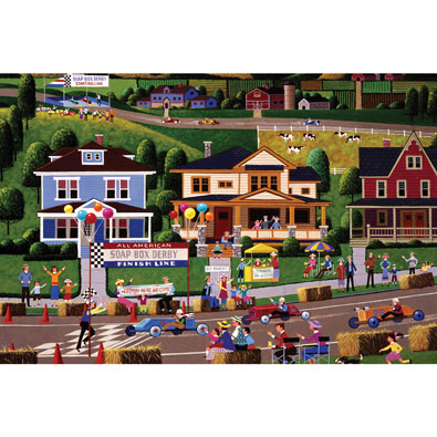 Soap Box Derby 300 Large Piece Jigsaw Puzzle