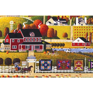 Amish Quilt Sale 300 Large Piece Jigsaw Puzzle