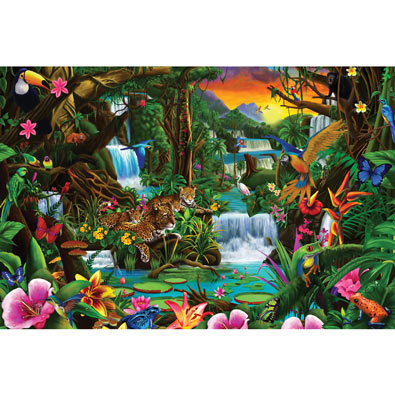 Magnificent Rainforest 300 Large Piece Jigsaw Puzzle