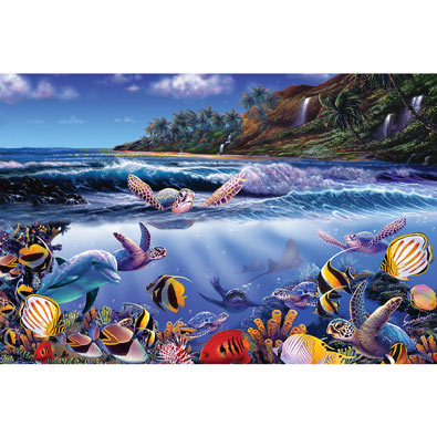 Turtle Town Joy 300 Large Piece Jigsaw Puzzle