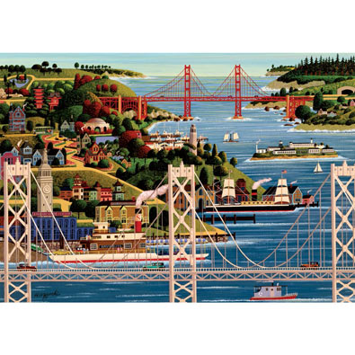 Bridges of San Francisco 1000 Piece Jigsaw Puzzle