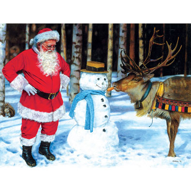 A Carrot for Rudolf 300 Large Piece Jigsaw Puzzle