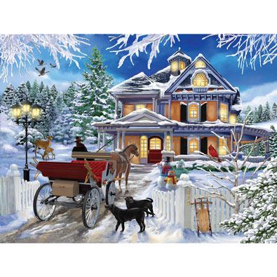 Winter Visit 300 Large Piece Jigsaw Puzzle