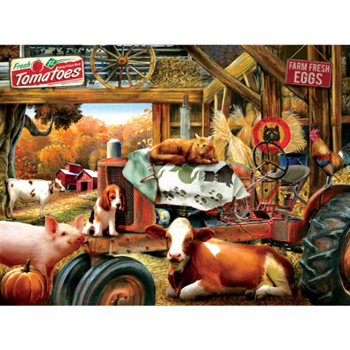 Barn House Meeting 1000 Piece Jigsaw Puzzle
