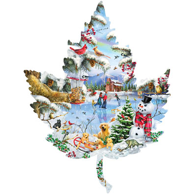 Winter Leaf 1000 Piece Shaped Jigsaw