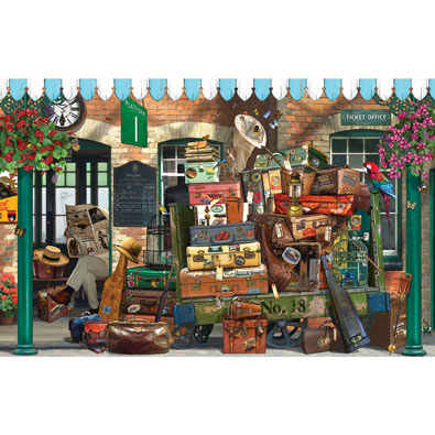 At the Train Station 1000 Piece Jigsaw Puzzle