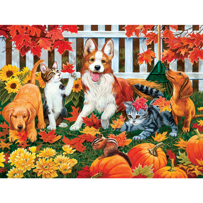 Set of 4: Ken Zylla 300 Large Piece Jigsaw Puzzles