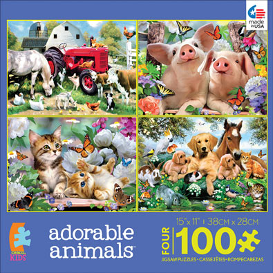 Adorable Animals 4-in-1 Multi Pack Set