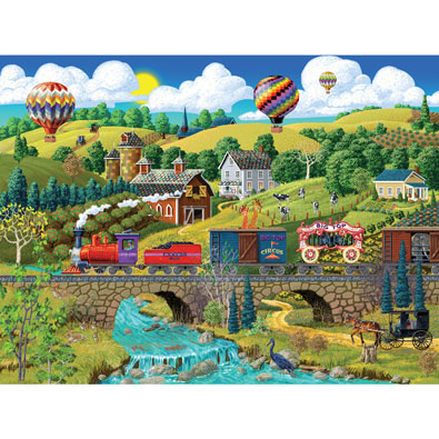 Big Top Circus Train 500 Piece Jigsaw Puzzle