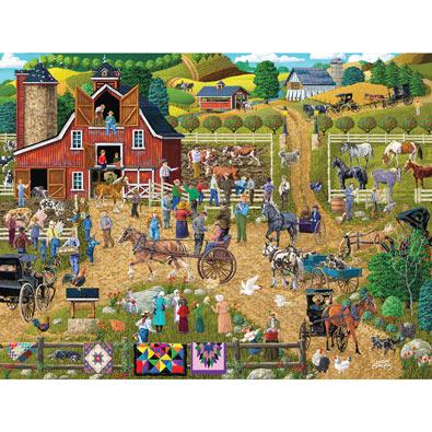 Country Farm 500 Piece Jigsaw Puzzle
