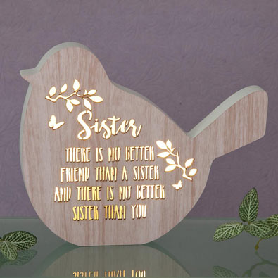Sister Sentiment LED Bird