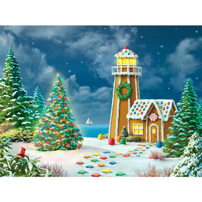 Gingerbread Light 300 Large Piece Jigsaw Puzzle