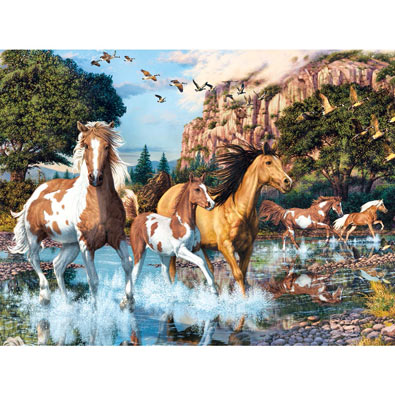 Running Free 550 Piece Jigsaw Puzzle