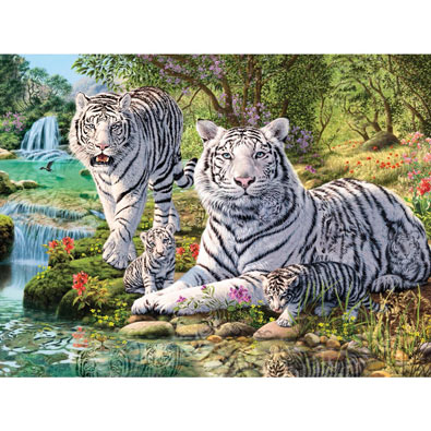 Jungle Royalty 550 Piece Jigsaw Puzzle