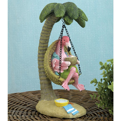 Swinging Flamingo Statue