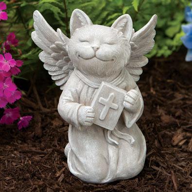 Praying Cat Statue