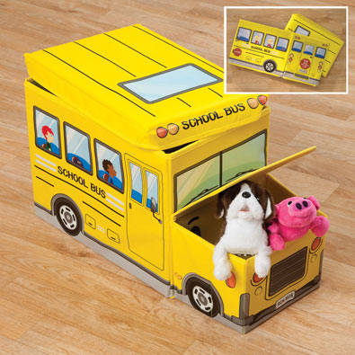 Collapsible School Bus Storage Box
