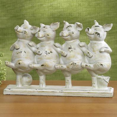 Dancing Pigs Statue