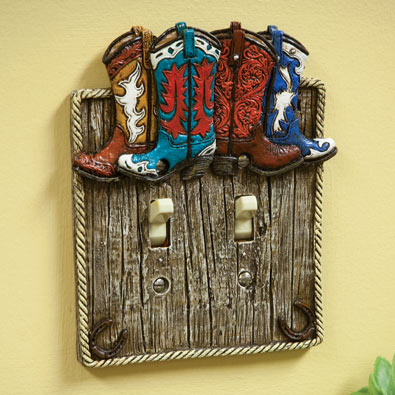 Cowboy Boot Light Switches- Double Light Switch