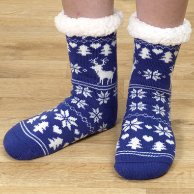 Nordic Print Slipper Socks