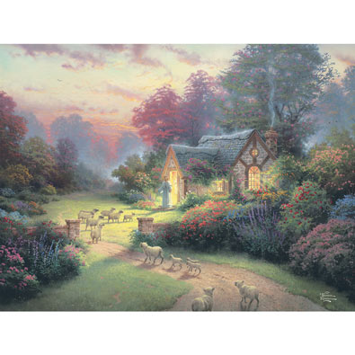 The Good Shepherd S Cottage 300 Large Piece Jigsaw Puzzle