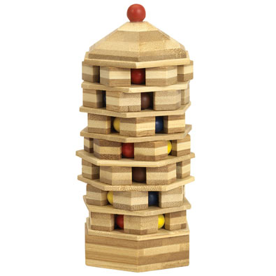 Wooden Bead Pagoda Puzzle