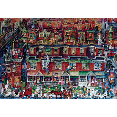 Neighborhood 2000 Piece Giant Jigsaw Puzzle