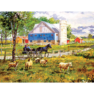 Through the Fields 300 Large Piece Jigsaw Puzzle