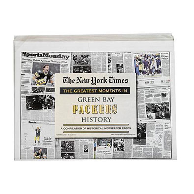 New York Times Greatest Moments Newspaper : Green Bay Packers