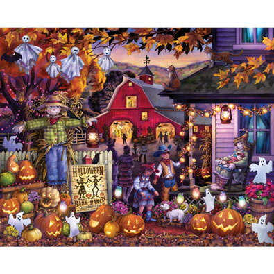Halloween Barn Dance 1000 Piece Jigsaw Puzzle