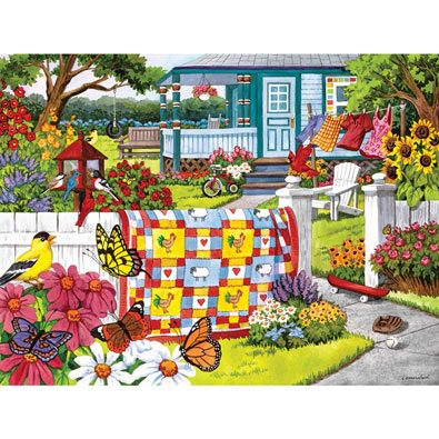 Serene Summer 300 Large Piece Jigsaw Puzzle