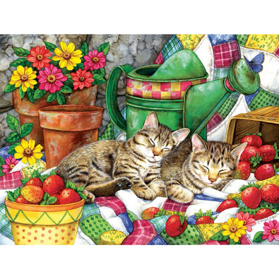 Strawberry Sweethearts 500 Piece Jigsaw Puzzle