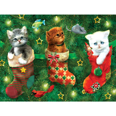 Stockings Full of Kittens 300 Large Piece Jigsaw Puzzle