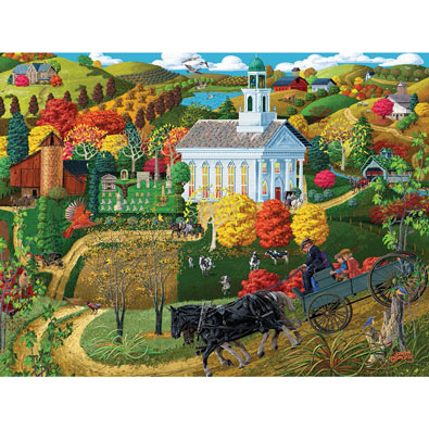 A Country Church 500 Piece Jigsaw Puzzle